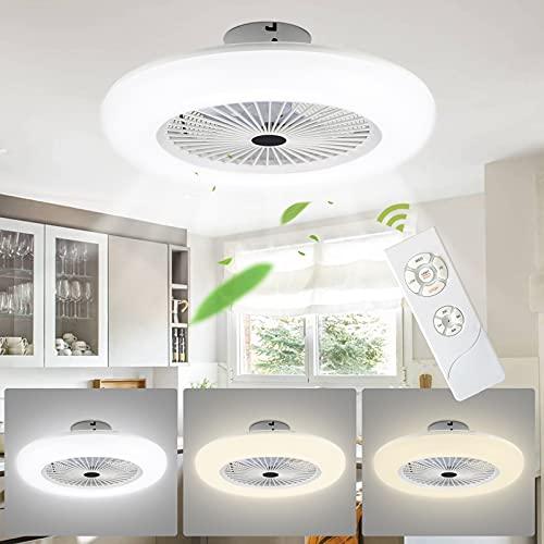 VINGO Deckenventilator mit Beleuchtung 80W Dimmbar Fan Licht Einstellbare Windgeschwindigkeit Deckenventilatoren Lampe Lüfter-Deckenleuchte mit Fernbedienung