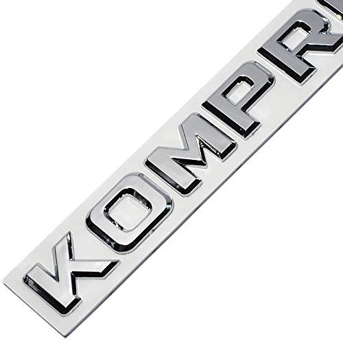 XYWD 3D ABS Kompressor Autoseitenkotflügel Heckkoffer Emblem Aufkleber Auto Abzeichen Emblem Dekoration Klebstoff für Mercedes Benz SLK CLK SL CLS ML GL A B C E S Klasse CL55 SLK200 C180 CLC200