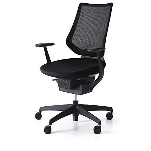コクヨ イング イス ブラック メッシュタイプ デスクチェア 事務椅子 座面が360°動く椅子 CR-G3403E6G4B6-W...