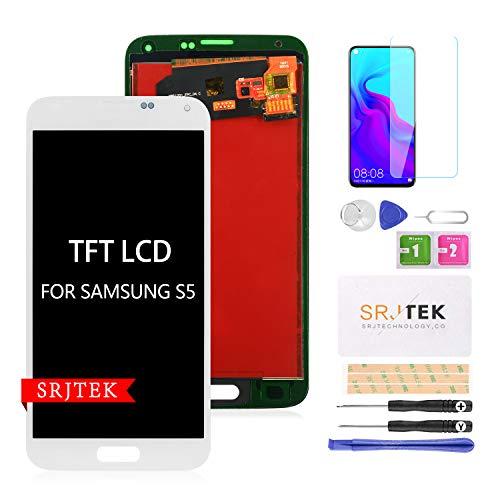 pour Samsung Galaxy S5 G900 écran LCD,pour Samsung S5 2015 G900 G900MD G900A TFT LCD écran,S5 Affichage LCD écran Tactile Numériseur Verre Capteur Pièces De Rechange Réparation (Blanc)