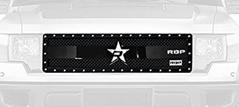 RBP 951569-C RX-3 Series Black Studded Frame Main Replacement Grille with Front Camera for Ford F-150 RAPTOR/SVT