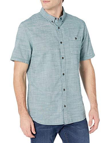 Quiksilver Herren FIREFALL Short Sleeve Regular Woven Hemd, Kalamata Feuerfall, Groß