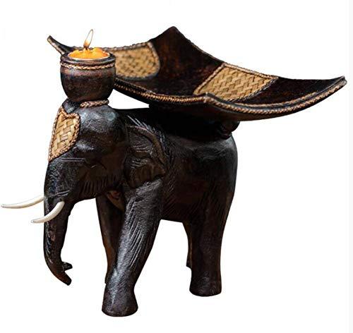 JYV Frutero Decoración Artesanía Sala Restaurante Oficina de Talla de Madera Maciza Plate Collection Elefante Fruta