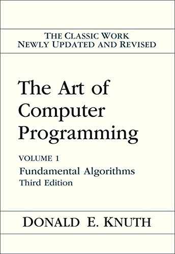 ART OF COMPUTER PROGRAMMING 3/: Volume 1: Fundamental Algorithms (ART OF COMPUTER PROGRAMMING VOLUME 1)