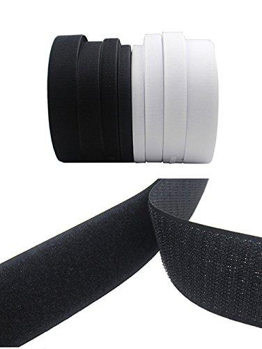 Rouleau de ruban scratch à coudre non-adhésif - Ruban magique en nylon - Outils de décoration 40MM x 2Meters Noir
