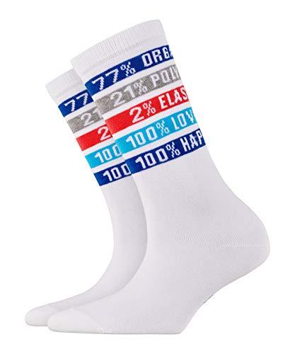 BURLINGTON Damen Socken Happiness - Baumwollmischung, 1 Paar, Weiß (White 2000), Größe: 36-41