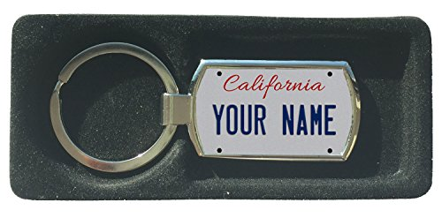 BRGiftShop Personalize Your Own California State License Plate Metal Keychain