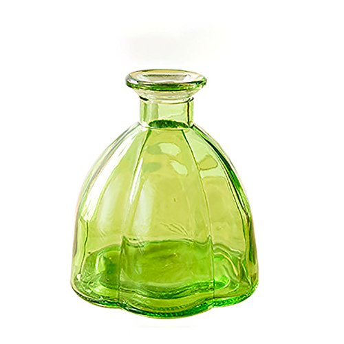 Laat Retro Kürbis Glasflaschen Vase Dekoration Hochzeit/Haus/Hotel/Bankett, Glas, grün, Bas: 10 cm, Hauteur: 10.9cm , Calibre: 1.8 - 4cm