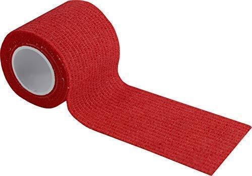 Kohäsive Pflaster selbstklebend Fixierbinde Haftbinde versch. Farben F.Rieger(Farbe: rot,Größe: 5 cm x 4 m,1 Stück)