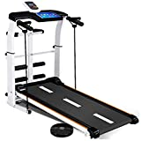 Running Treadmill Mechanical Treadmills Folding Shock Running, Supine, T-wisting, Draw Rope 4-in-1, Multifunctional Walking Machine Silent Shock Absorption Run Treadmill