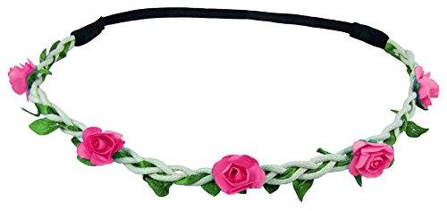 Blumen Haarband Bella mit kleinen Rosen - Pink