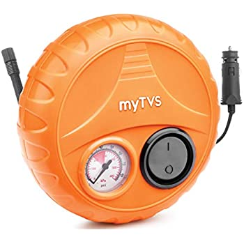 myTVS TI-2 Car Tyre Inflator Portable Air Compressor Pressure Pump with 2 Year Warranty