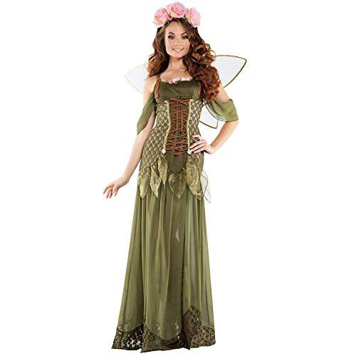 TYUE Disfraz De Hada De Halloween para Mujer Disfraz De Madrina De Cuento De Hadas para Adultos,L