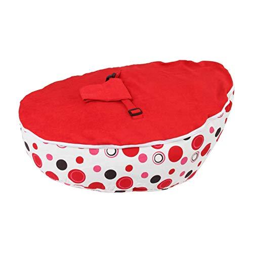 Beanbag silla de apoyo bebé algodón puro silla de bebé mini niños sofá arnés de cableado ajustable silla niño bebé beanbag con arnés de seguridad blanco rojo