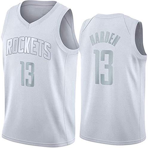 Men's NBA Jersey-Basketball Ropa James Harden # 13 Houston Rockets Camisetas de Baloncesto para Hombres, cómodo/Ligero/Transpirable Uniforme Unisex Uniforme,5,M (170~175CM / 65~75KG)