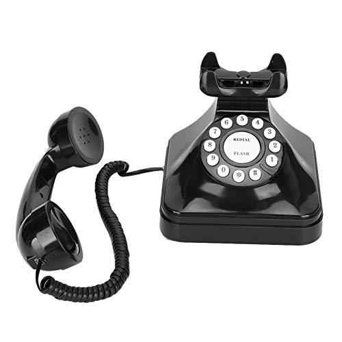 Nannigr Teléfono de casa de Estilo Retro clásico clásico, teléfono de época/teléfono Retro Operación de una Sola línea para el hogar para reemplazo de Barra para decoración