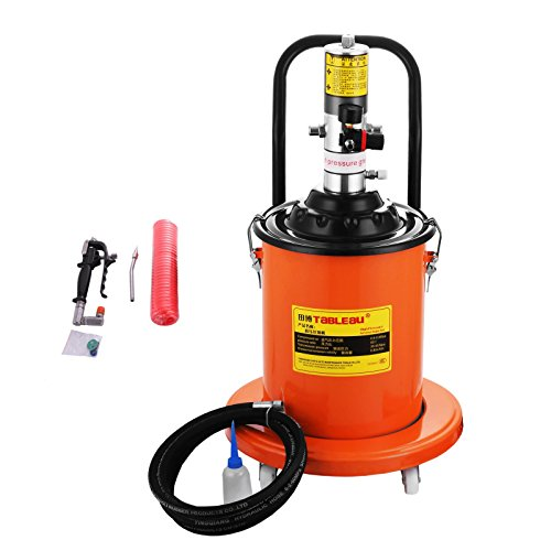 BestEquip Portable 20L Grease Pump Set Electric 5 Gallon Air Operated Grease Pump with 20FT High Pressure Hydraulic Hose (5 Gallons)