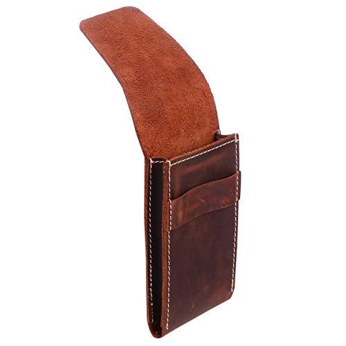 Hemobllo Reloj, pulsera, bolsa de almacenamiento de piel, portátil, joyería de viaje, reloj de piel, bolsa de almacenamiento, para hombres y mujeres