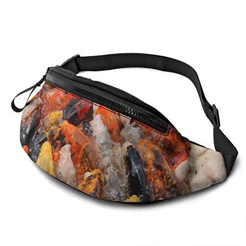 AOOEDM Koi Feeding Fashion Casual Waist Bag Fanny Pack Travel Bum Bags Running Pocket for Men Women