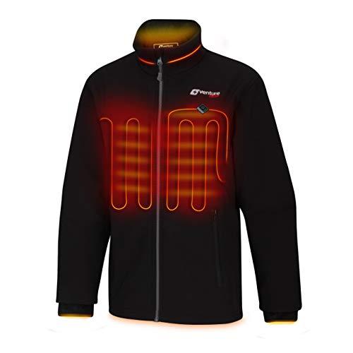 Venture Heat Damen Softshell Heizjacke mit Batteriepack - Winddichte elektrische Manteloberbekleidung, Outlast 2,0
