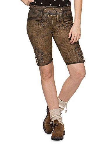 Stockerpoint Damen Hose Piper Lederhose, Braun (Stein Geäscht Stein Geäscht), 40