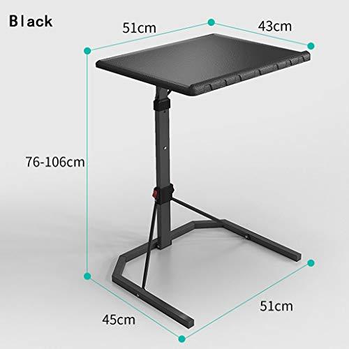 Draagbare monitorstandaard voor laptop, tablet of boekenplank, zwart, metaal, opvouwbaar, 51x45x76cm 1-4
