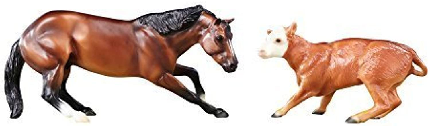 Breyer Classics Cutting Horse & Calf Set by Reeves (Breyer) Int'l