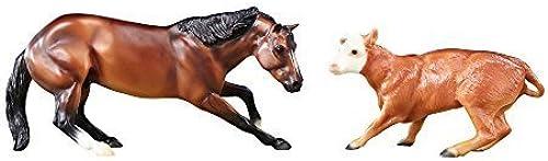Breyer Classics Cutting Horse & Calf Set by Reeves (Breyer) Int'l