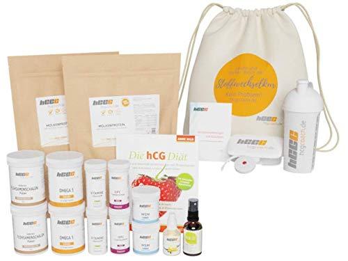 hCGC® Das Original Stoffwechselkur Komplettpaket | 42 Tage hCG Diät +18 Tage geschenkt | Weidemilchprotein | Mit PUSH-IT Aktivator Spray | + Buch | Gratis Zugaben | Aromatropfen (Vanille)