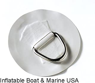 Inflatable Boat D-ring Pad/Patch – PVC Lt.Gray 6 - 2 Each