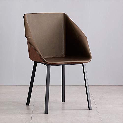 Nordic eetkamerstoel modern licht luxe eenvoudig thuis hotel restaurant stoel leuning armleuning zadel leer bureaustoel