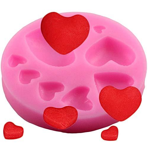 YTBUBOR Varios moldes de Silicona para Tartas con Forma de corazón de Amor, Molde de Silicona para Hornear para Galletas, Herramientas para Tartas, decoración de Tartas