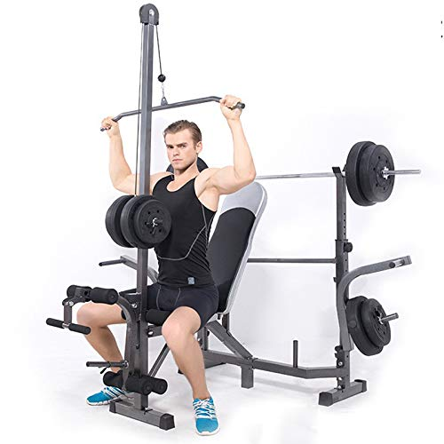 Weight Bench adjustable  Bench Press Set with Bar   Strength Training Benches for Home   Exercise Abdominal Muscles Biceps Abdominal Muscles Back Muscle Pectoral Muscle Biceps Triceps (Bearing Weight: