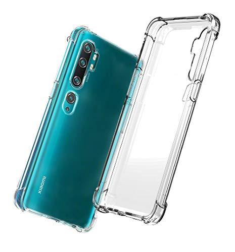 QHOHQ Case for Xiaomi Mi Note 10,Xiaomi Mi Note 10 Pro,Transparent Ultra Slim Soft Silicone TPU Anti-Fall Case (Clear)
