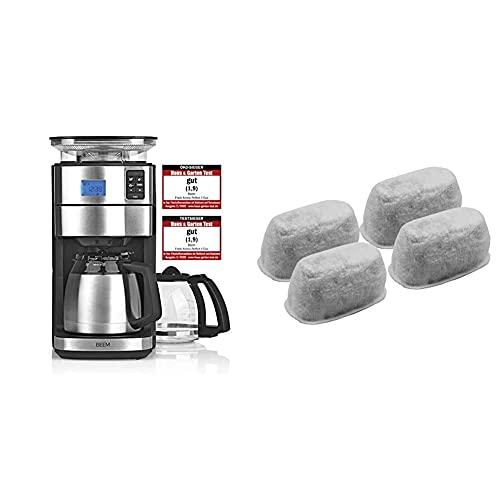 BEEM FRESH-AROMA-PERFECT II Filterkaffeemaschine mit Mahlwerk - Duo | 1000 W & 4-teiliges Aktivkohlefilterset, passend für Fresh-Aroma-Perfect V2, Fresh-Aroma-Perfect Deluxe und Fresh-Aroma-Perfect