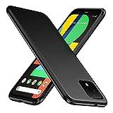 TesRank Google Pixel 4 XL Hülle, Matte Oberfläche Soft Hüllen [Ultra Dünn] [Kratzfest] TPU Schutzhülle Hülle Weiche Handyhülle für Google Pixel 4 XL-Schwarz