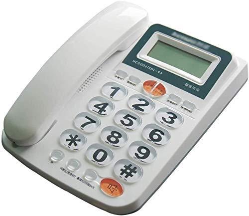 YUBIN Teléfono Inicio Teléfono Retro teléfono Fijo Teléfono de Escritorio con Cable Teléfono BBUTTON TELÉFONOS para Mayores, con Pantalla DE IDENTIFICACIÓN DE LLADER/HH Volumen/FUNCIÓN DE REDIAL