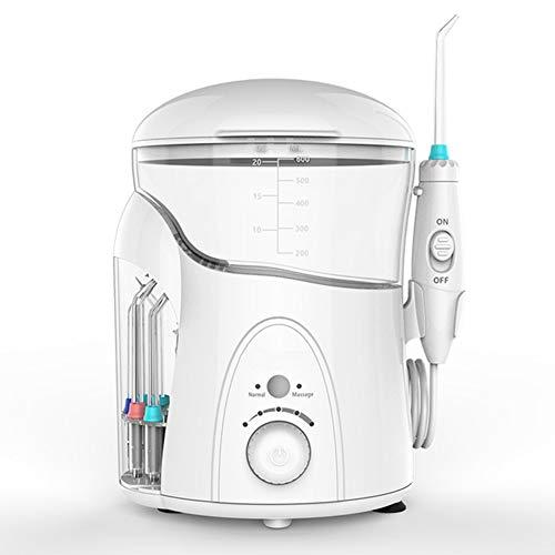 CGBF-Professionelles Munddusche Zahnreiniger Wasser Flosser mit 7 Jet Düsen 600Ml Wassertank 5 Druckeinstellung Dental Water Jet Flosser UV Desinfektion für die Familie