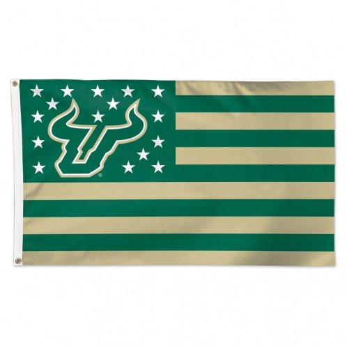 Wincraft University of South Florida Bulls NCAA American Flag 3 x 5 Foot
