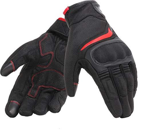 DAINESE Air Master Gloves, Guanti Moto Touring Estivi, Nero/Rosso