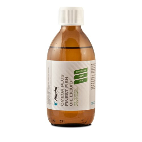 Omega 3 Fish Oil Liquid - High Strength 1800mg EPA / DHA - High Quality Micro Distilled Omega 3 Fish Oil - Orange Flavour (No Fish Odour Or Taste) - 225ml By Aliment Nutrition