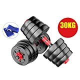 Dumbbells Free Weights Dumbbells Weight Set Plating Coated Cast Iron Dumbbell Pair for Gym Home Bodybuilding...