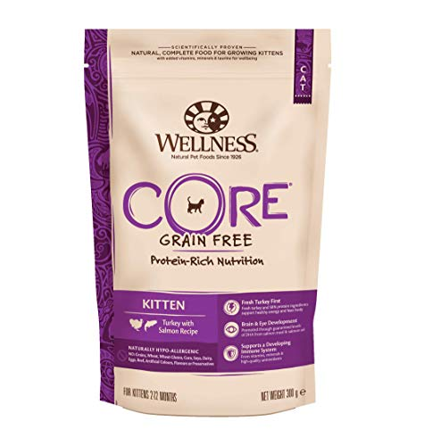 Wellness CORE Kitten Trockenfutter Getreidefrei, für Kätzchen, Hoher Fleischanteil, Pute und Lachs, 300 g