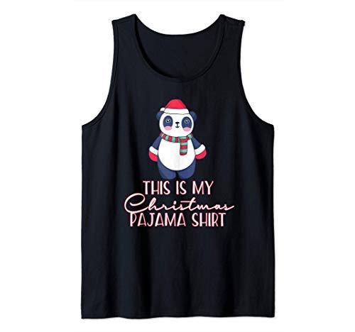 THIS IS MY CHRISTMAS PAJAMA SHIRT Oso Panda pijamas Meme Camiseta sin Mangas