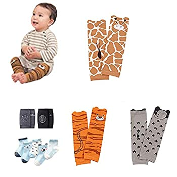 Baby Leg Warmers Leggings Knee pads socks for Toddler  pack 10 pairs