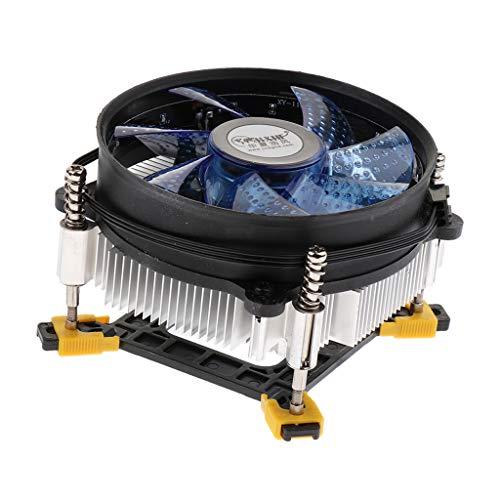 #N/A/a Radiador de CC de 12 V, Luces LED de Alto Brillo, 7 Ventiladores, Computadora, CPU, Enfriador, Radiador