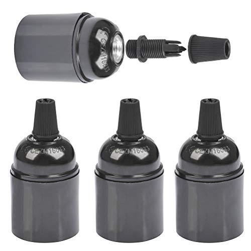 FOCCTS 4 Stück Glühbirnen E27 Glühbirne Adapter (φ38 * H50mm) Bulbhead Light Converter zu E27 Lampenfassung mit Glühbirnenhalter für Vintage Glühbirne Wasserdichte isolierte Glühbirne Schraube