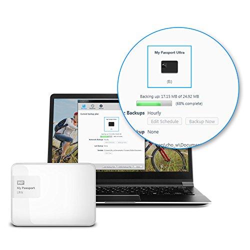 『WD HDD ポータブルハードディスク 2TB My Passport Ultra WDBBKD0020BWT-PESN USB3.0/ホワイト/暗号化パスワード保護/3年保証』の3枚目の画像