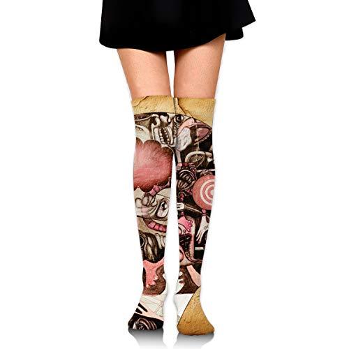 Head Of Human Body Calcetines casuales para mujeres y hombres calientes gruesos lindos dibujos animados atléticos calcetines
