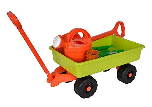 Simba 107134089 - Handwagen mit Gartenwerkzeug